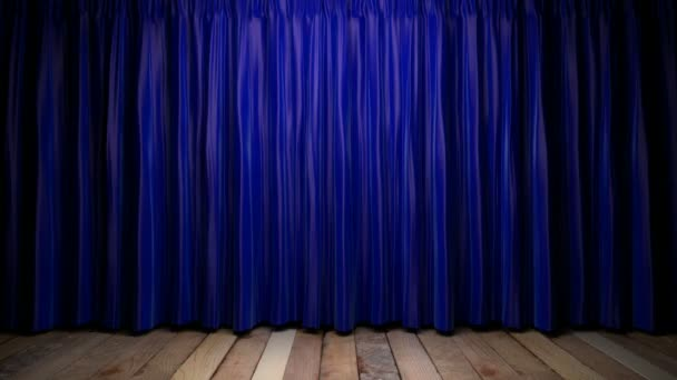 smyčka světlo na modrou tkaninou záclony