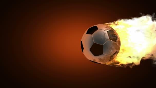 brennender Fußballball