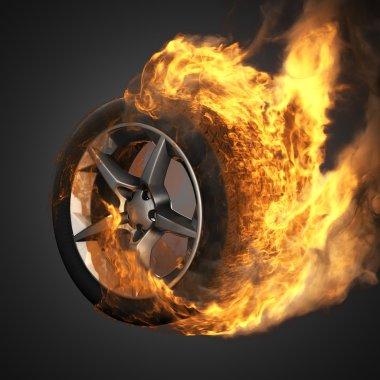burning tekerlek