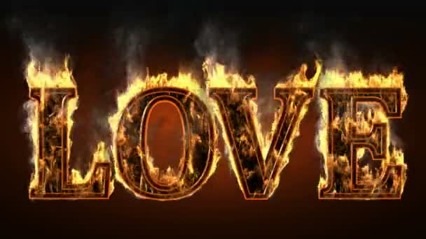 Love with fire and smoke. Alpha matted