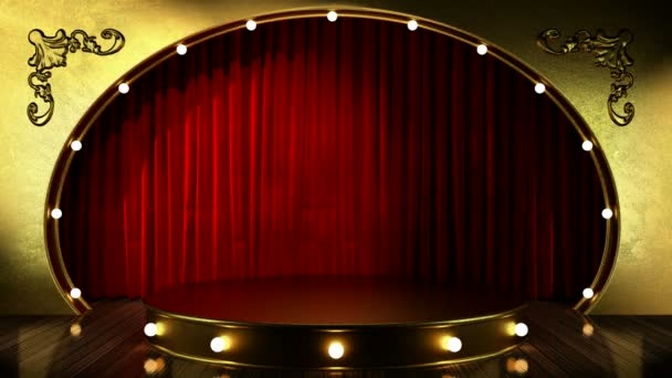 smyčka světlo na zlaté pódium