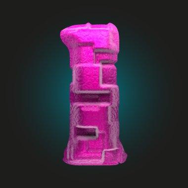 vector pink plastic figure 1