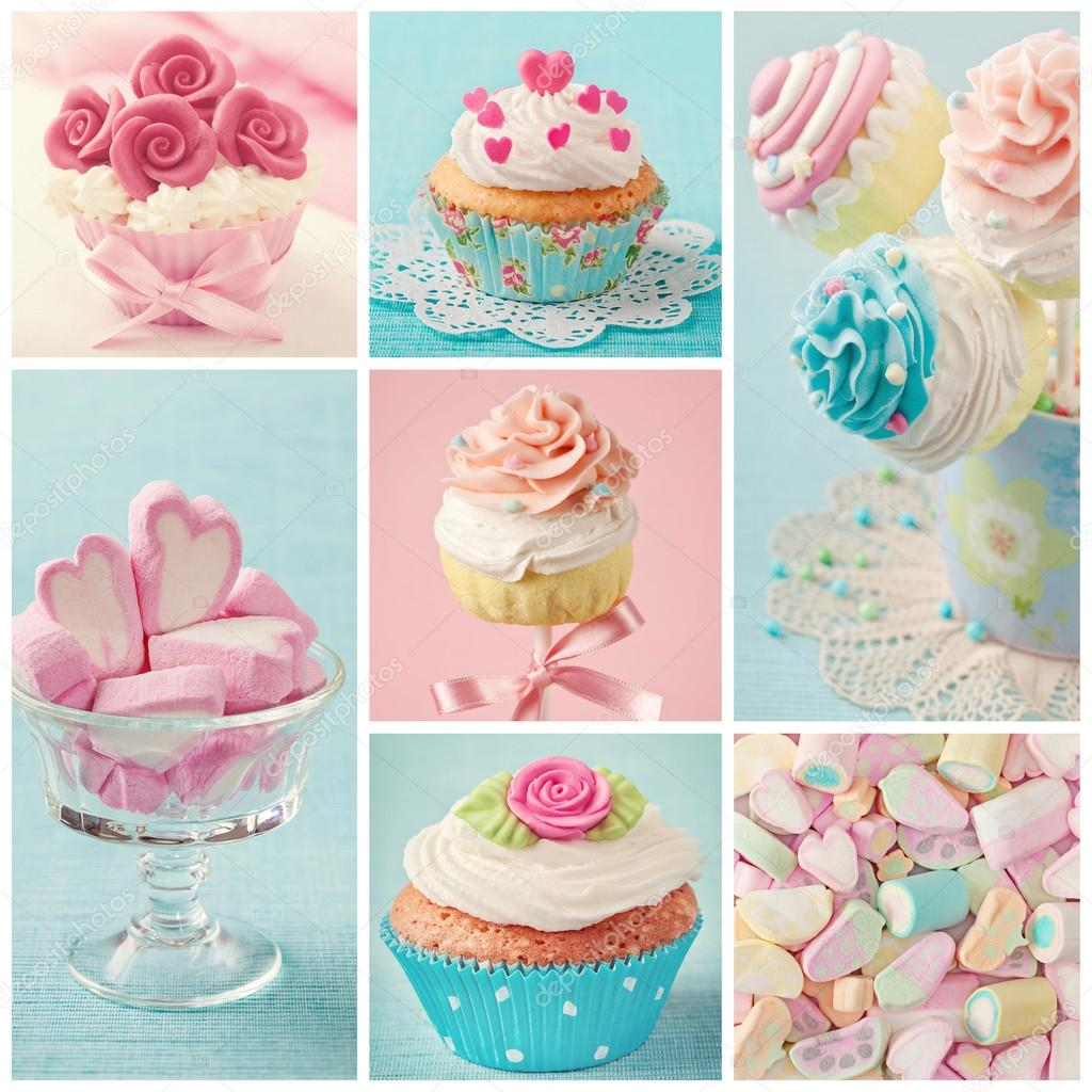 Pastel colored sweets