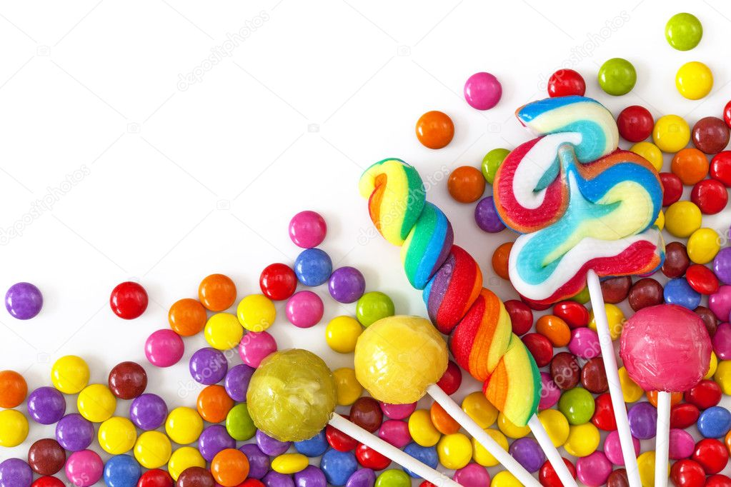 Mixed colorful sweets