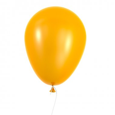 Orange balloon isolated on white background