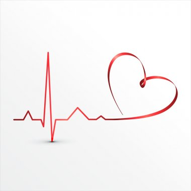 Heart beats cardiogram icon. Medical background stock vector