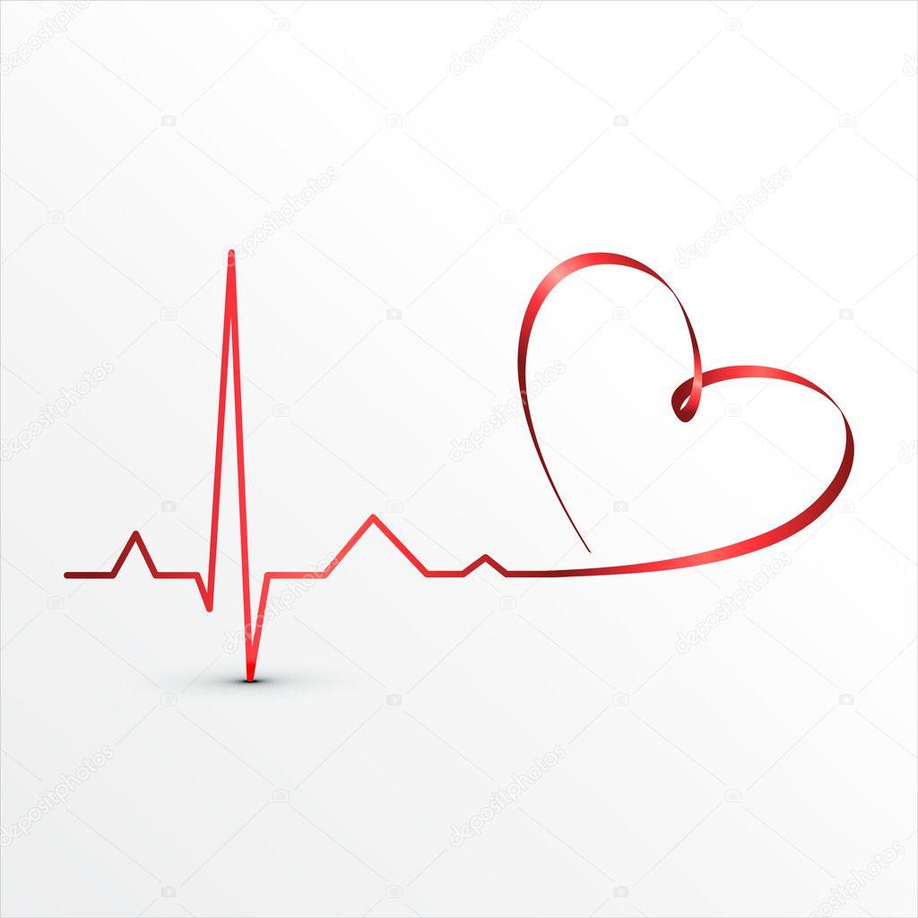 Heart beats cardiogram icon