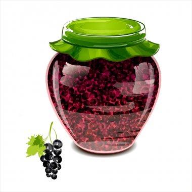 Jar of black currant jam