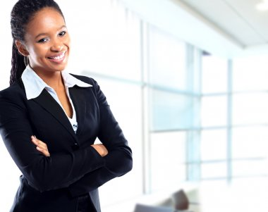 African businesswoman at office