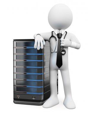 3D white . System administrator