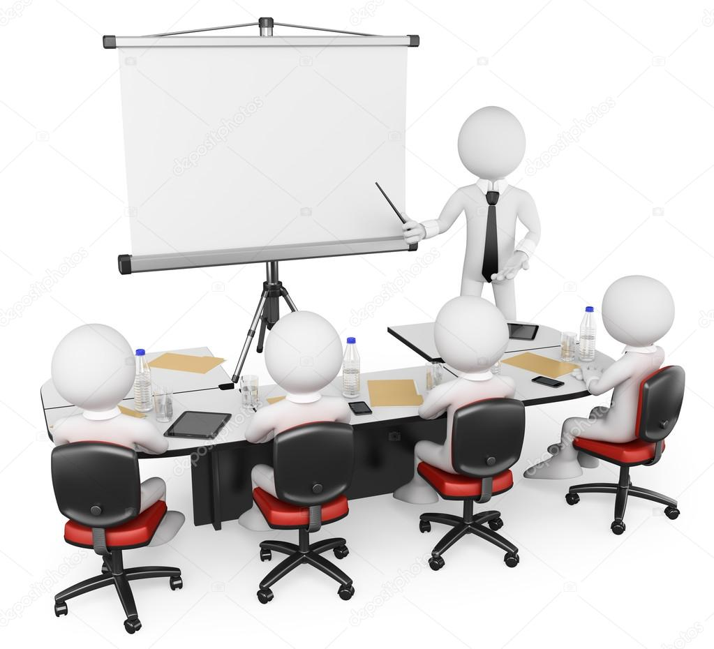 3D white . Business workshop