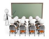 Fotografie 3D weißen Menschen. Schüler in Klasse