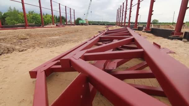 Steel Frames At the Construction Site