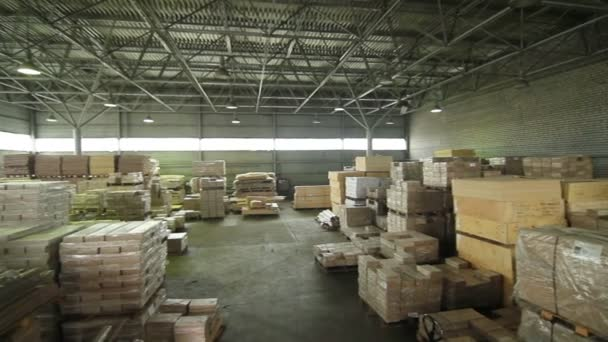 Warehouse of wood products