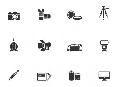 Photography icons in single color