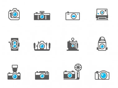 Camera icons in duo tone colors.