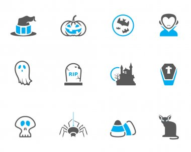Halloween icon series in duo tone colors