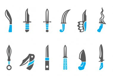 Knife icons in duo tone colors