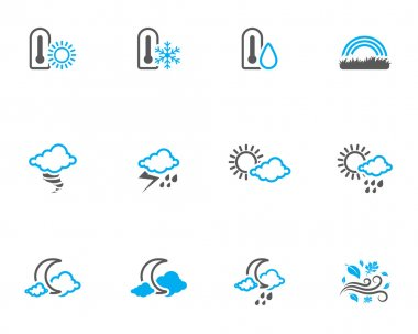 More weather icon series in duo tone color style.