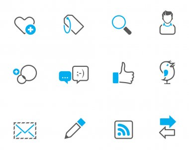 Social network icon set.