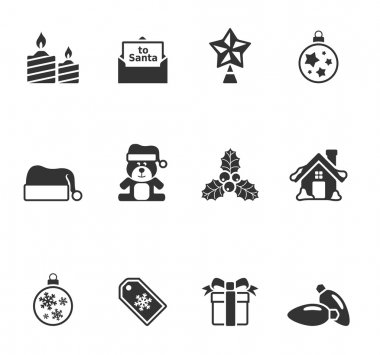 Christmas icon in single color