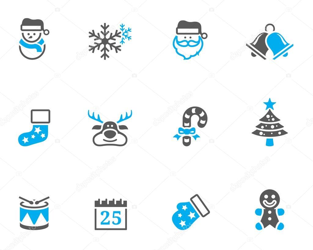 Weihnachten-Symbol im Duo Tone Farbe Stil — Stockvektor © puruan ...