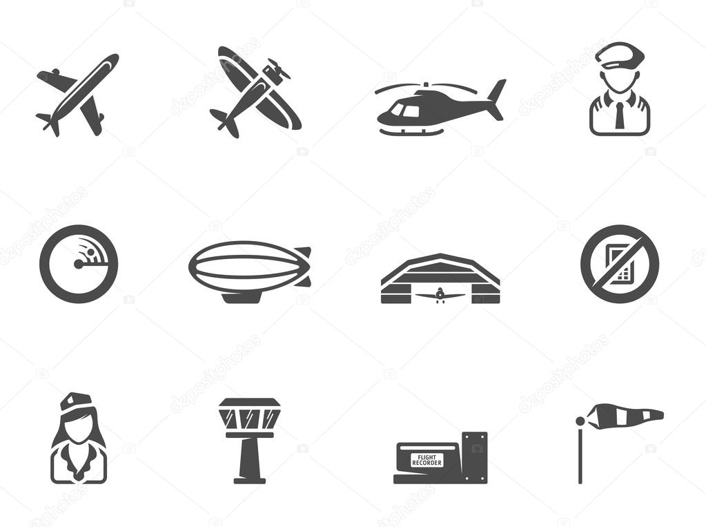Icon Airplane Png Airplane Silhouette Icons In Black White