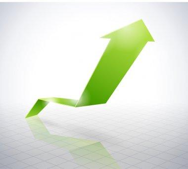 Green arrow graph