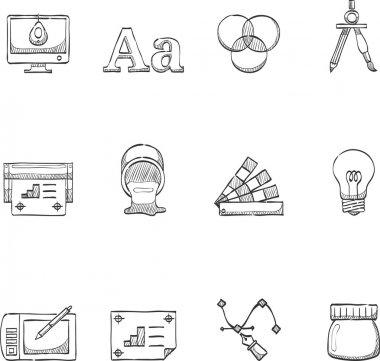 Printing & graphic design icon set.