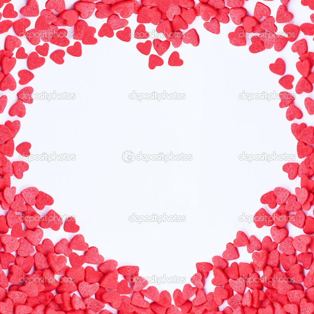 Valentine hearts frame — Stock Photo © stahov #18574399