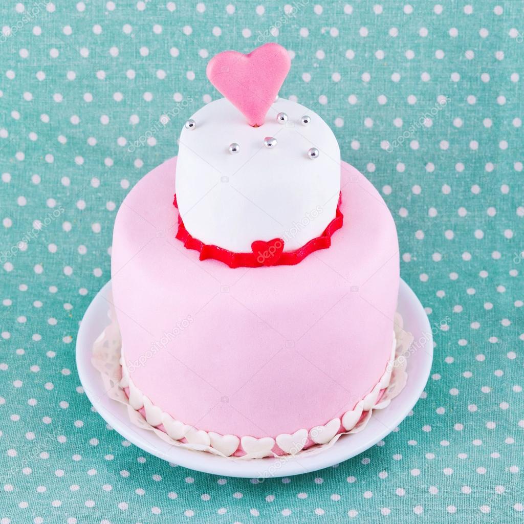 Kuchen Zum Valentinstag Stockfoto C Stahov 19705439