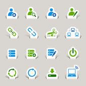 Fotografia Papercut - icone sito Web e internet