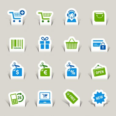 Papercut - Shopping icons
