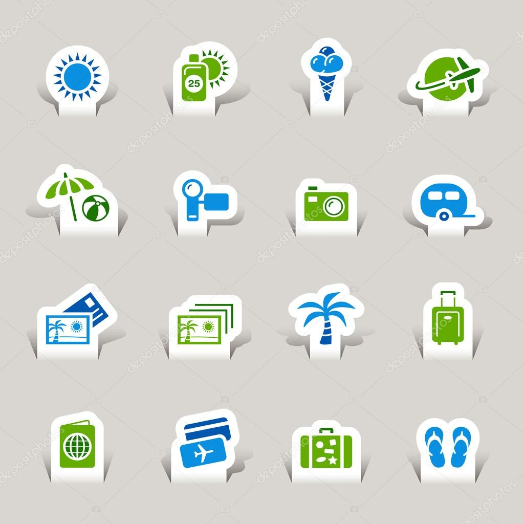 Papercut - Vacation icons
