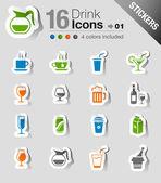 Samolepky - nápoj ikony