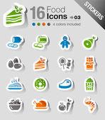 Samolepky - potraviny ikony