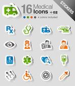 Samolepky - lékařské ikony