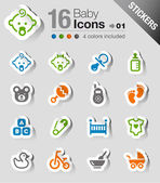 Samolepky - baby ikony