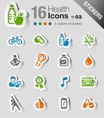 Samolepky - zdraví a fitness ikony