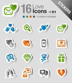 Samolepky - láska a datování ikony