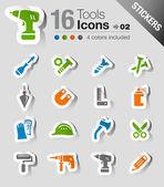 Samolepky - nástroje a stavební ikony