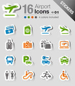 Fotografie Stickers - Airport and Travel icons