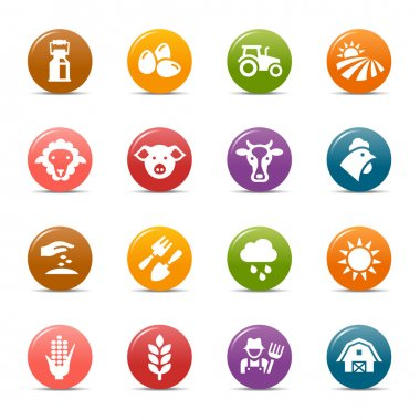 Colored Dots - Agriculture and Farming icons
