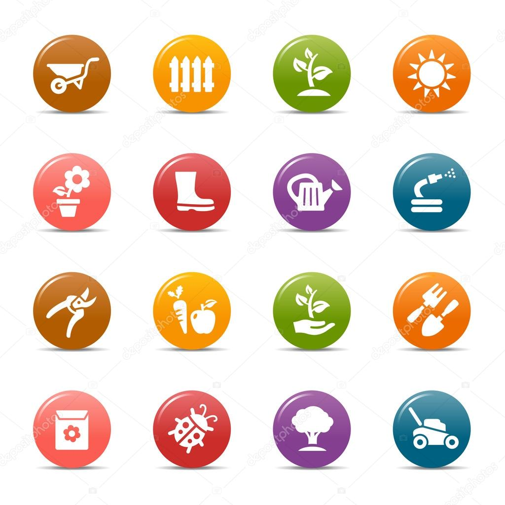 Colored Dots - Gardening icons