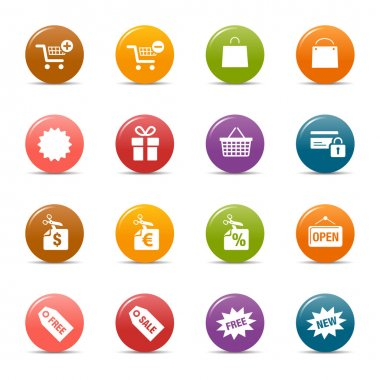 Colored Dots - Shopping icons