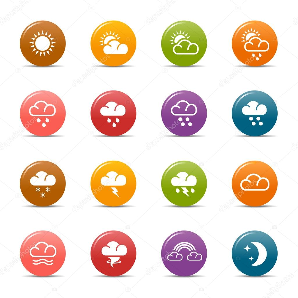 Colored Dots - Weather and Meteorology Icons