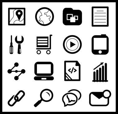 Black web icon set