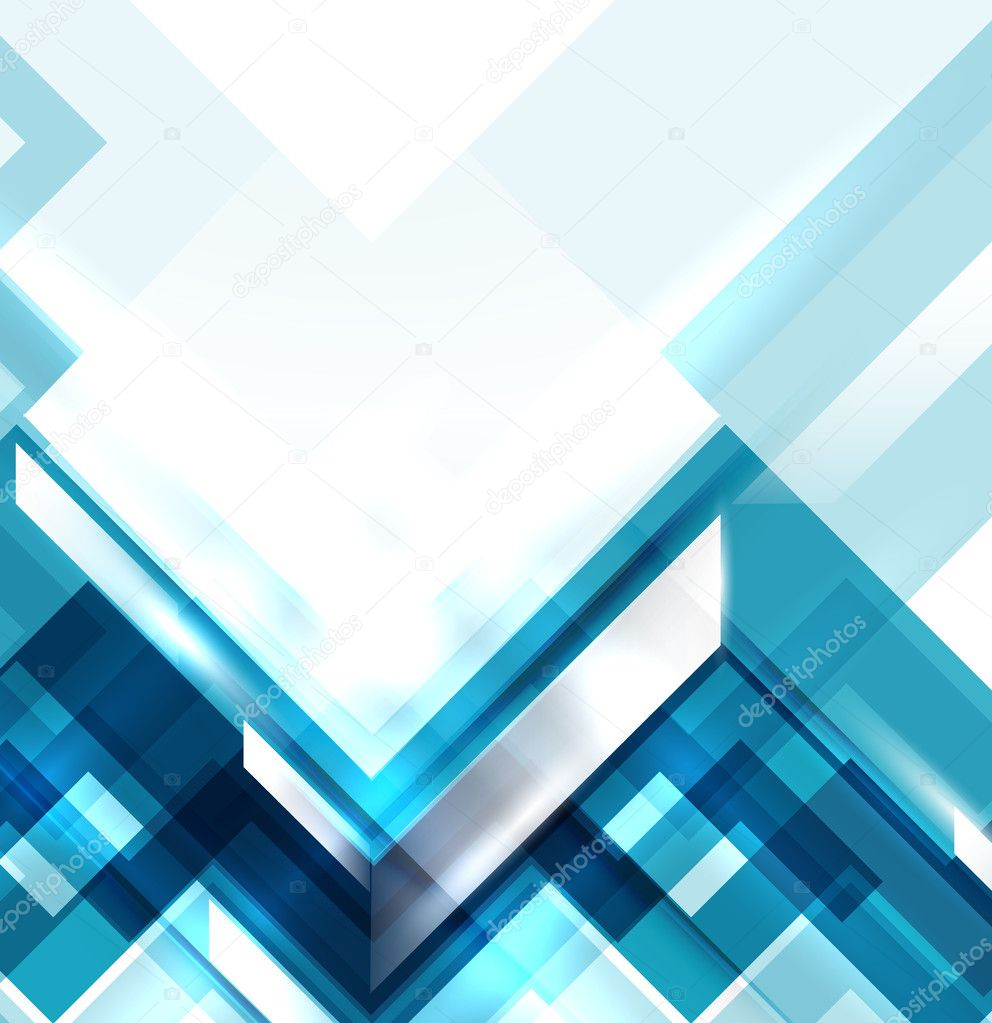 Blue modern geometric absract background