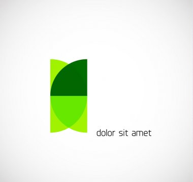 Abstract geometrical business symbol