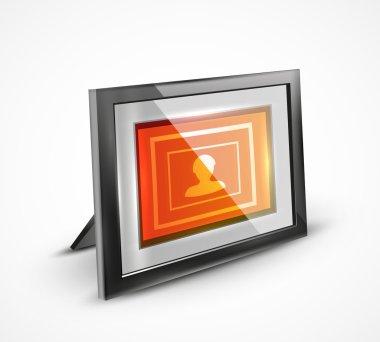 Vector photo frame 3d icon